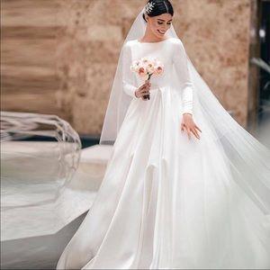 Dresses & Skirts - Muslim LDS Modest Custom Long sleeve Wedding Dress